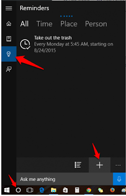 Cara Membuat Reminder / Pengingat Pada Windows 10 Dengan Cortana