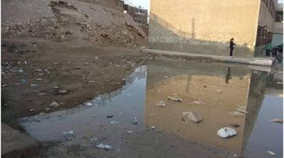 غرق مدرسة تجريبية بـ15 مايو فى مياه الصرف الصحى