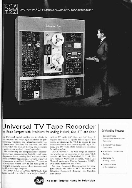 broadcast tv tape recorder advertisement 1963