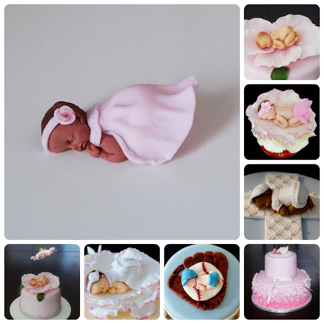 how to make a fondant or gumpaste baby cake topper