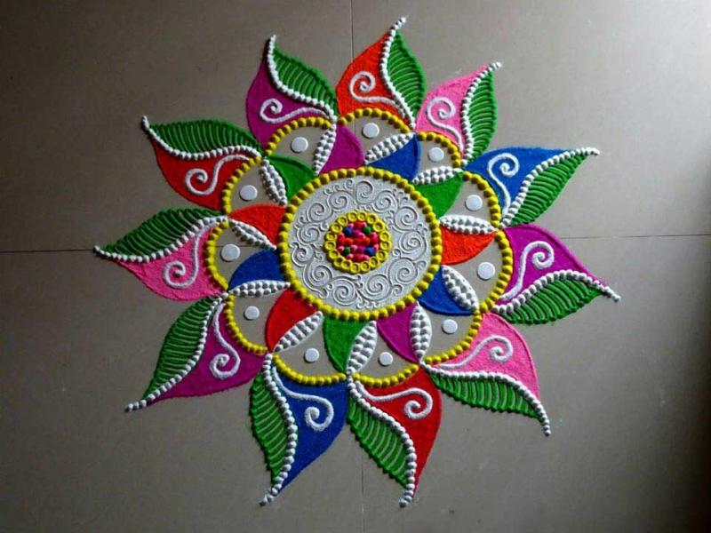 Happy New Year Rangoli 19