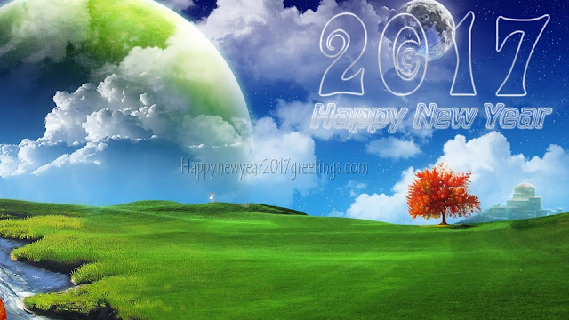 Happy New Year 2017 Nature Desktop Background Wallpapers in HD