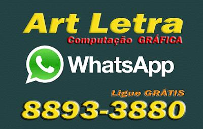 cartão de visita art letra whatsapp