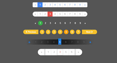 Pagination HTML CSS3 Templates - دروس4يو Dros4U