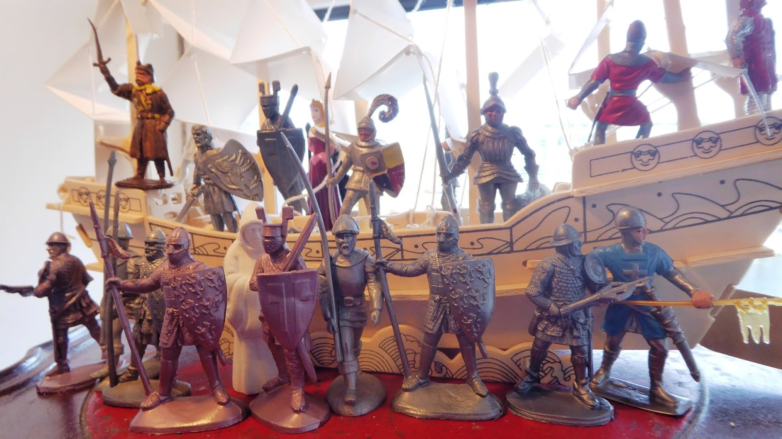 Toy soldiers and real battles: Departure of a Boat for the Crusades
