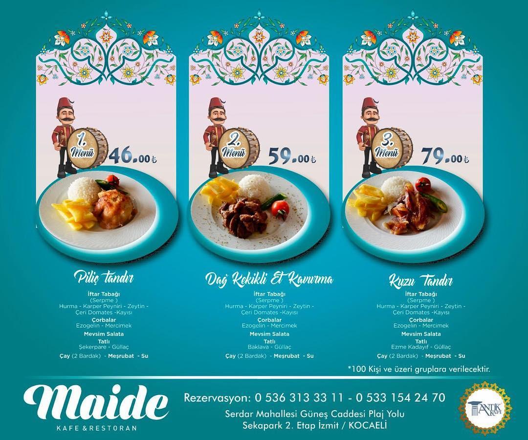 maide iftar menüsü izmit iftar mekanları kocaeli iftar mekanları seka sahil iftar yerleri