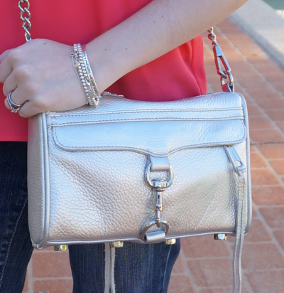 away from blue rebecca minkoff silver mini MAC