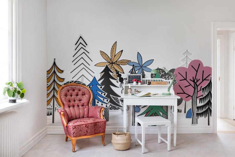 kolorowe tapety na ścianę