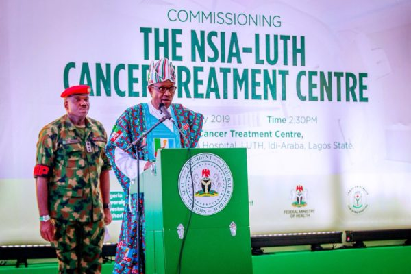 Buhari commissions the NSIA:LUTH Cancer Centre in Lagos