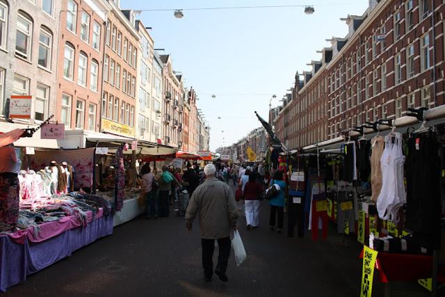 Mercado Albert Cuyp em Amsterdã