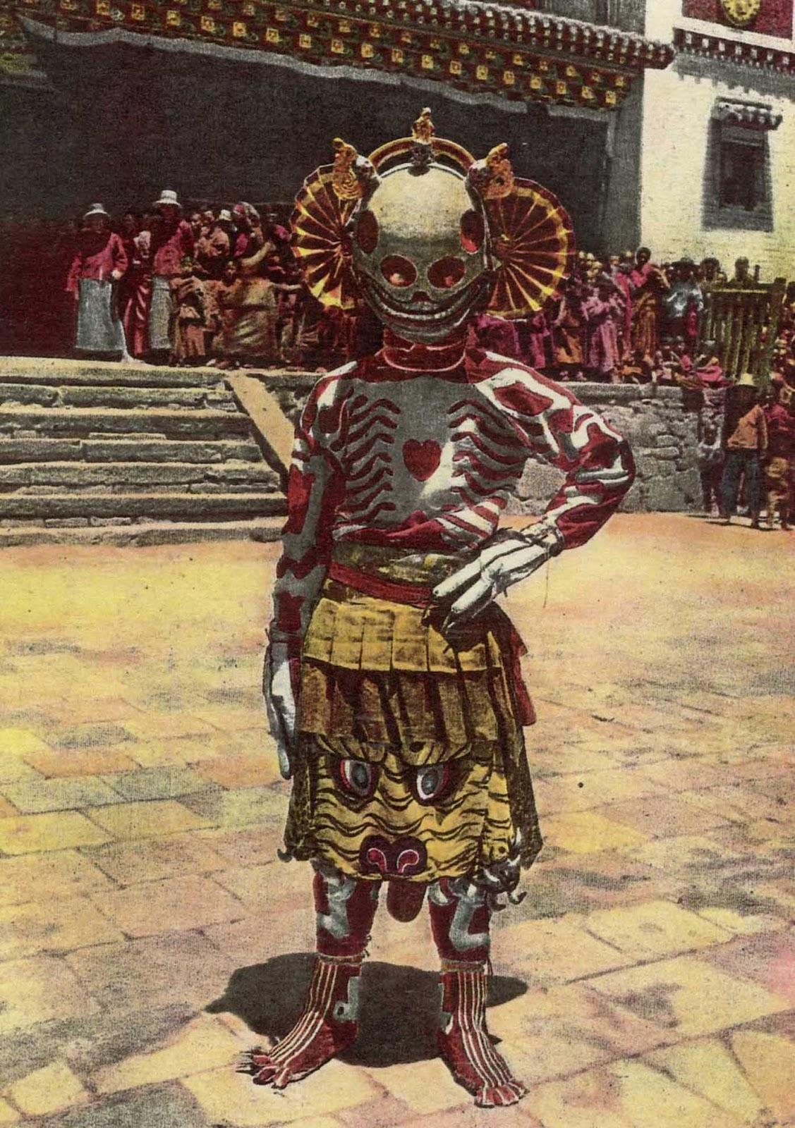 Danza del esqueleto tibetano, 1925.
