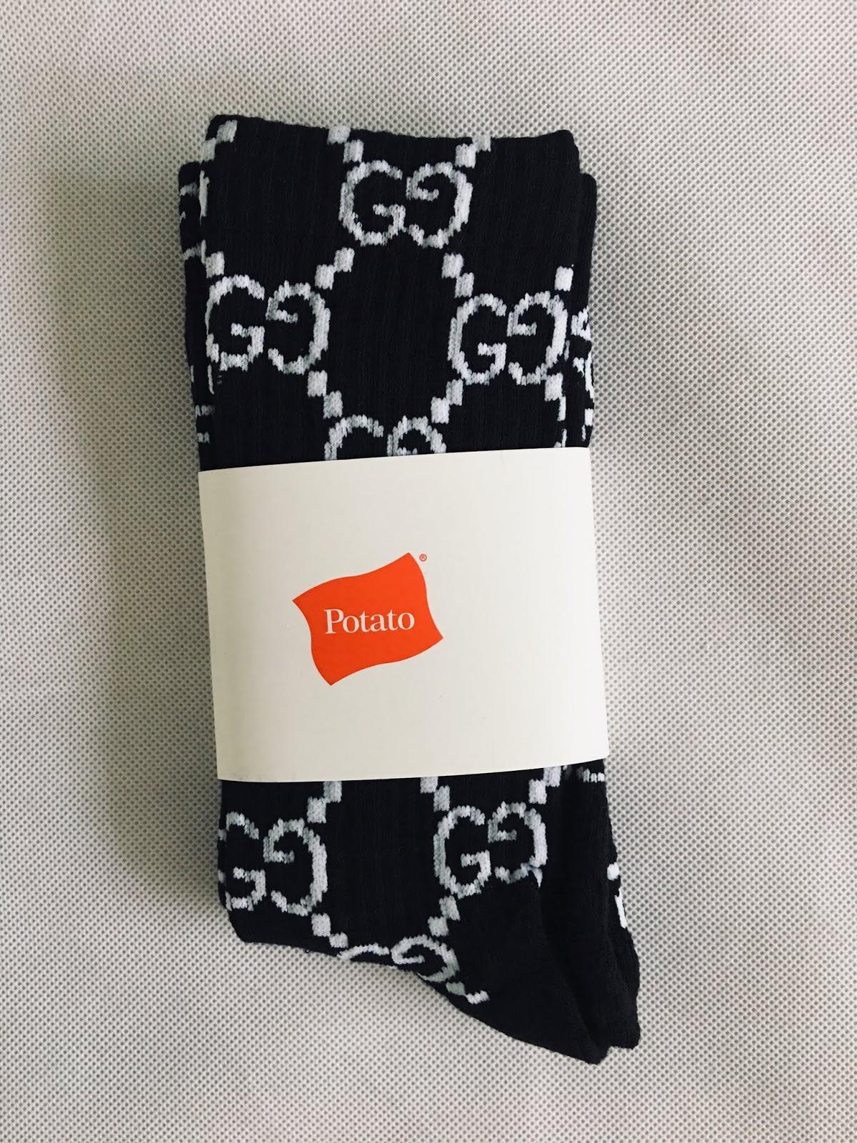 4a261bd5bec Imran Potato Black Colorway Gucci Socks