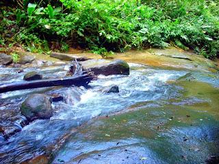 Córrego para a Segunda Queda, Cachoeira das Andorinhas, no Sana