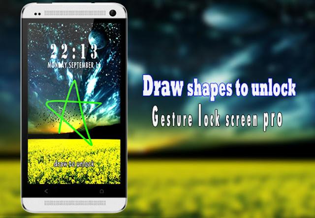 تحميل تطبيق Gesture Lock Screen Pro لفتح قفل الشاشة بتوقيعك الشخصي,