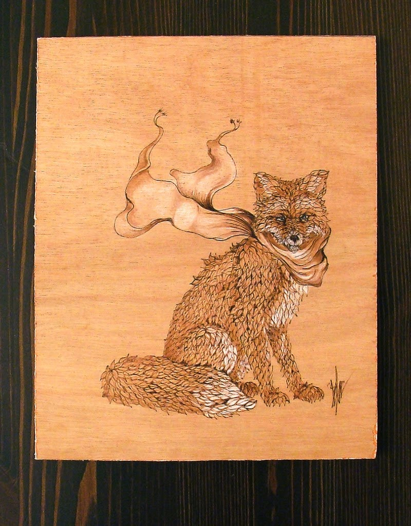 05-The-Fox-s-new-Scarf-Eben-Cavanagh-Rautenbach-LeRoc-Animal-Drawings-using-Pyrography-www-designstack-co