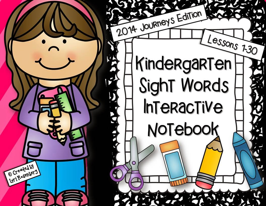 Teaching With Love And Laughter Kindergarten Sight Words Interactive Notebooks