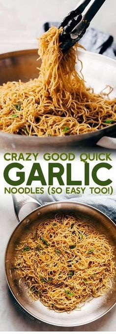 Crazy Good Quick Garlic Noodles