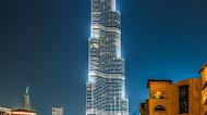 Burj Khalifa Skyscraper night lights Mobile Wallpaper