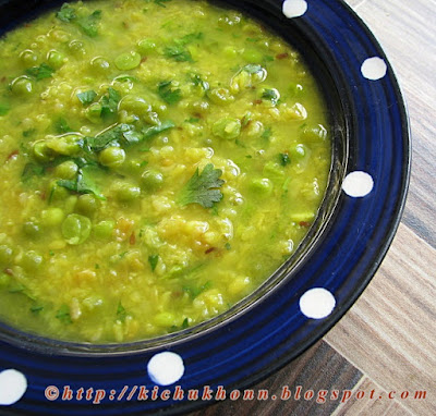 Moong dal with green peas