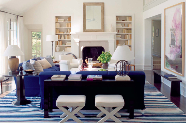 Champagne And Chevron Decorating With Blue Room Inspiration