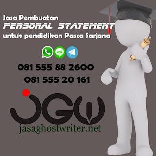 Jasa Pembuatan Personal Statement