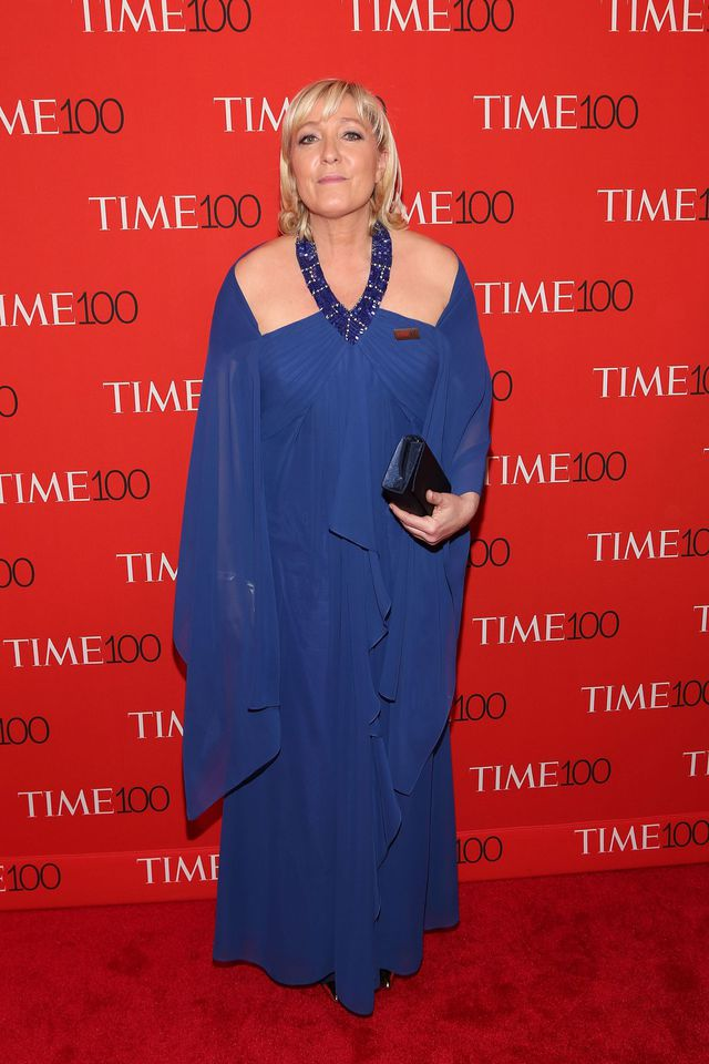 Marine Le Pen lors du gala du Time, en avril 2015 à New York.