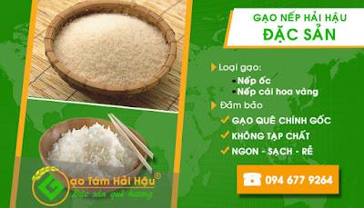 Đại lý bán buôn bán lẻ gạo nếp quê Hải Hậu Nam Định