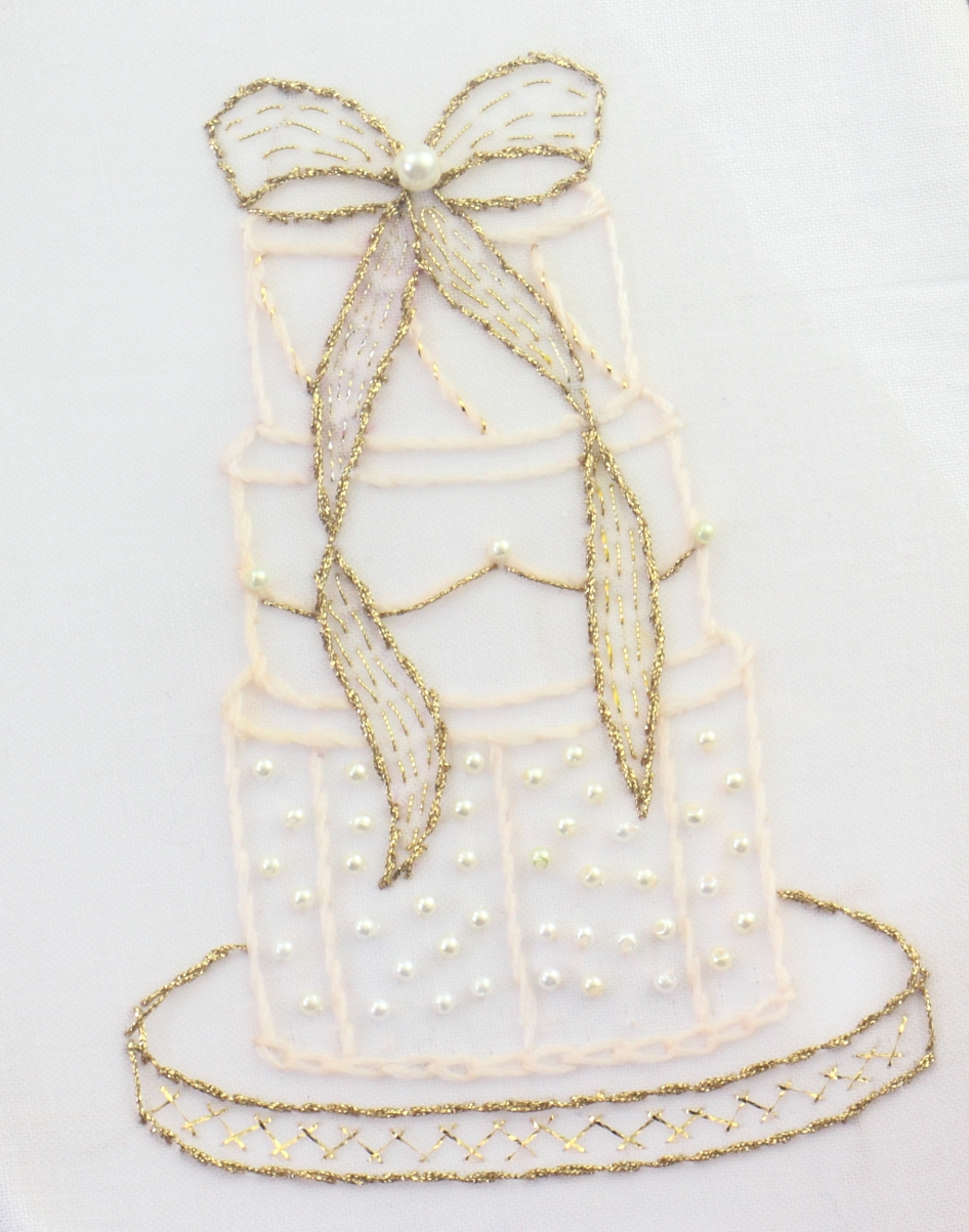 Big b wedding cake embroidery part two