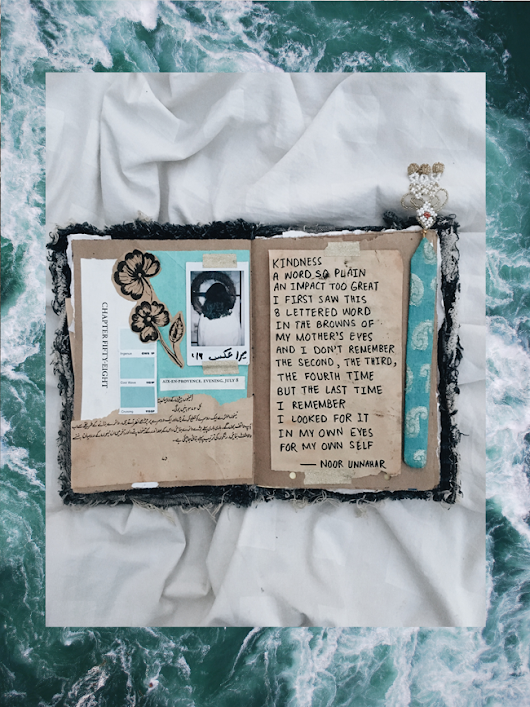 kindness and my mother // art journal + poetry