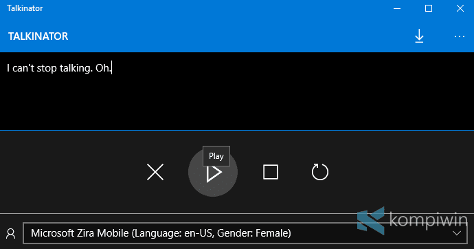 talkinator windows 10 aplikasi text to speech