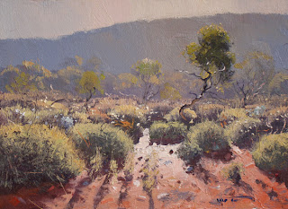 Warwick Fuller painting - Spinifex in Morning Light