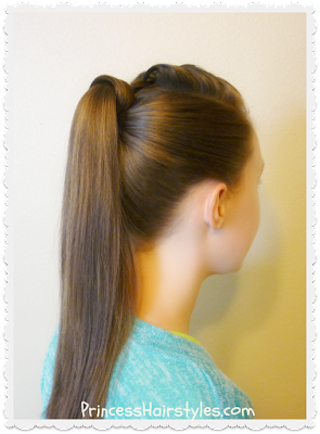 Easy and quick hair wrapped ponytail video tutorial