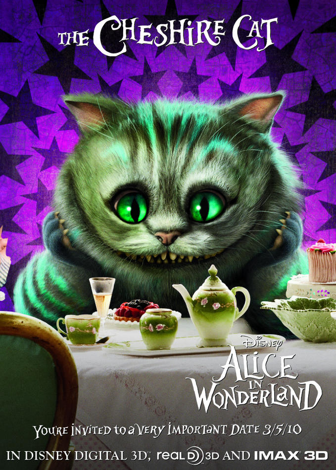 Cheshire Cat Alice in Wonderland 2010 animatedfilmreviews.blogspot.com