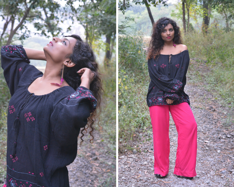 hippie trend indian bloggers bohemian fashion hippie fashion off shoulder top