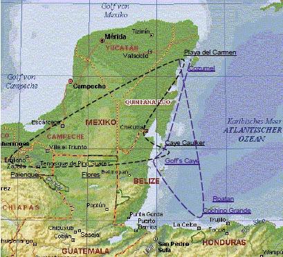 Route Mittelamerika 2003