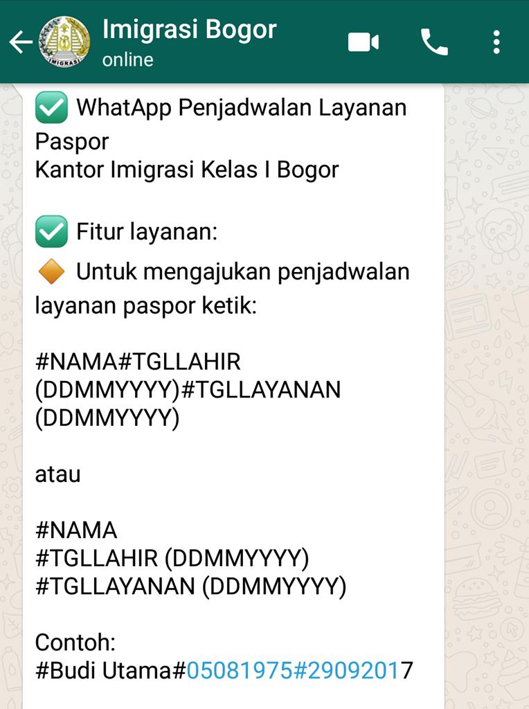 Cara Membuat Paspor Anak Lewat Antrian Whatsapp Ternyata Mudah Dan Cepat Rumika S Journey