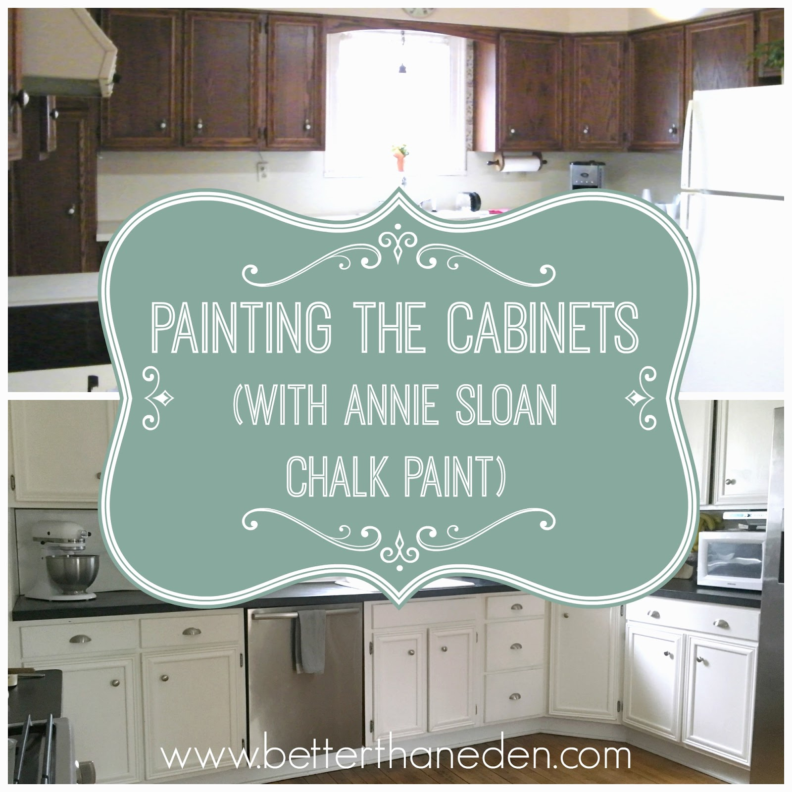 The kitchen project painting the cabinets and my annie for Can i paint kitchen cabinets with chalk paint