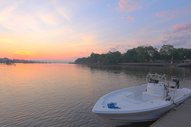 Exclusive Fishing Charters Boat at Sunrise