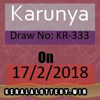 Kerala Result Lottery Karunya Draw No: KR-333 as on 17-02-2018