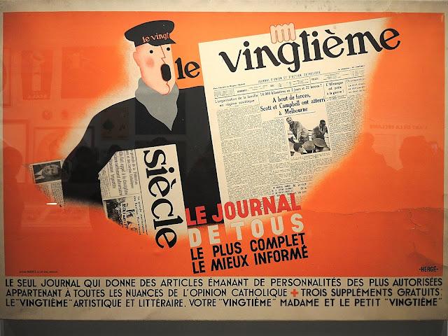 hergé, reclame, advertentie, kunst, vintage,