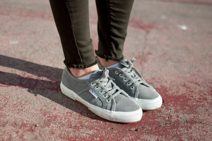 Superga x Lou & Grey Suede Sneakers San Francisco Fashion Style Raw Hem
