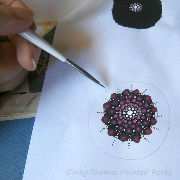 Practicing Dotted Mandala Painting on Paper