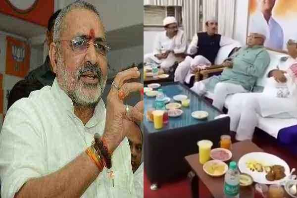 iftar-parties-political-party-congress-drama-says-giriraj-singh