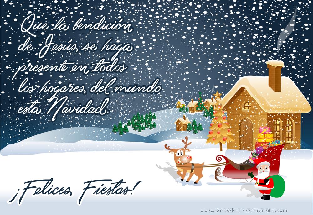 Banco De Imágenes Mensaje Navideño Y Frase Felices Fiestas