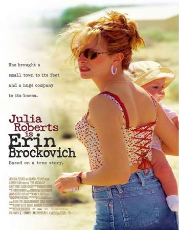 Poster Of Erin Brockovich 2000 Dual Audio 350MB BRRip 480p Free Download Watch Online Worldfree4u