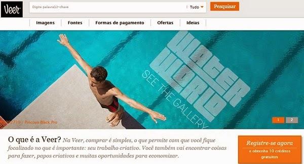 Como vender fotos pela internet - site Veer