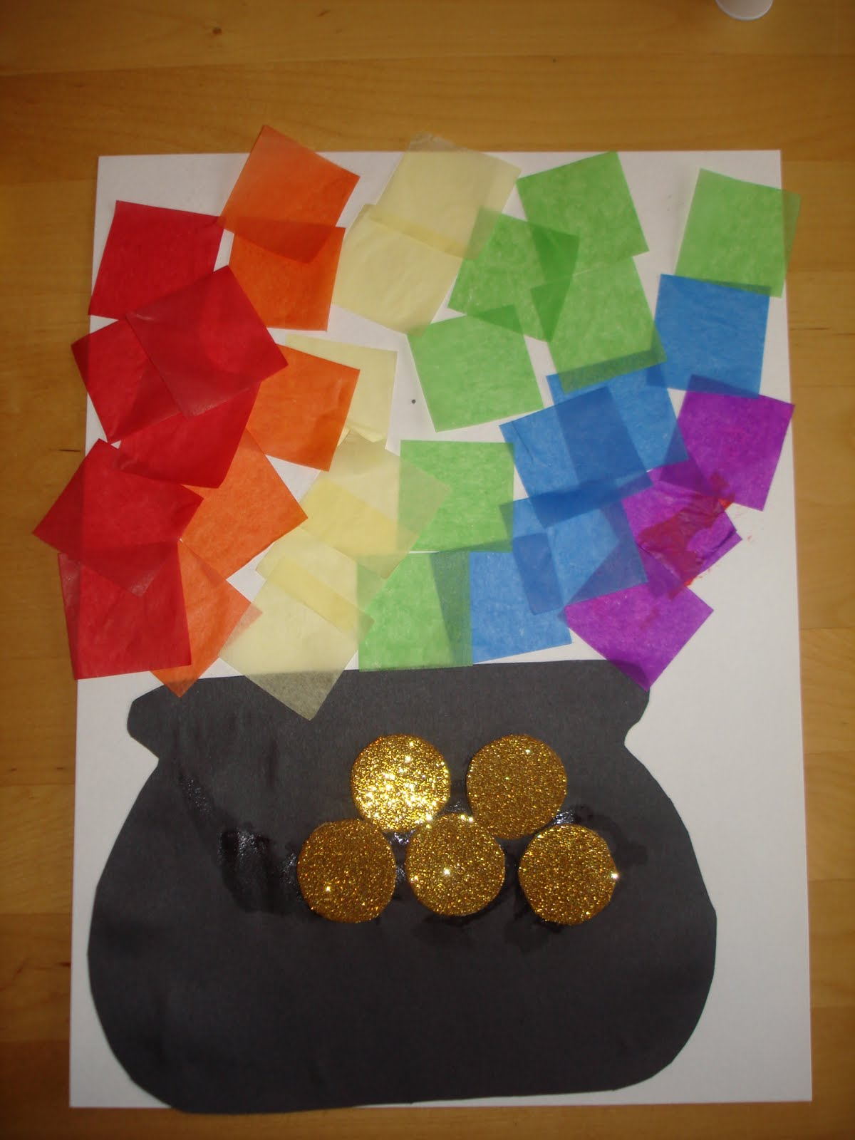 Preschool Crafts For Kids St Patrick S Day Tissue