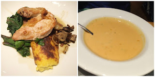 Oven-roasted Chicken Breast coral reef epcot & creamy lobster soup