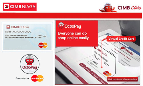 OctoPay Layanan Virtual Credit Card Bank CIMB Niaga