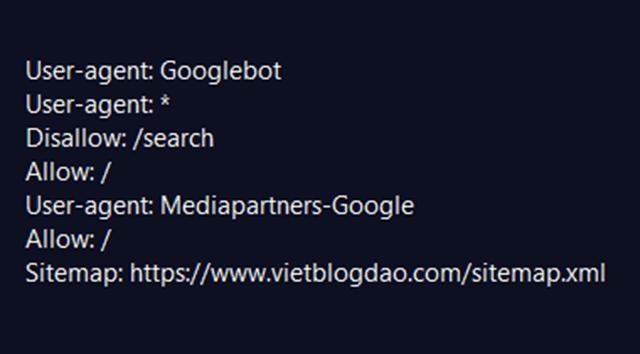 Cách tạo và đọc tệp robots.txt trong blogspot